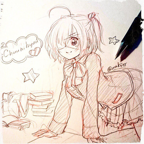 500x500 Love, Chunibyo And Other Delusions! Heart Throb, Anime , Drawing