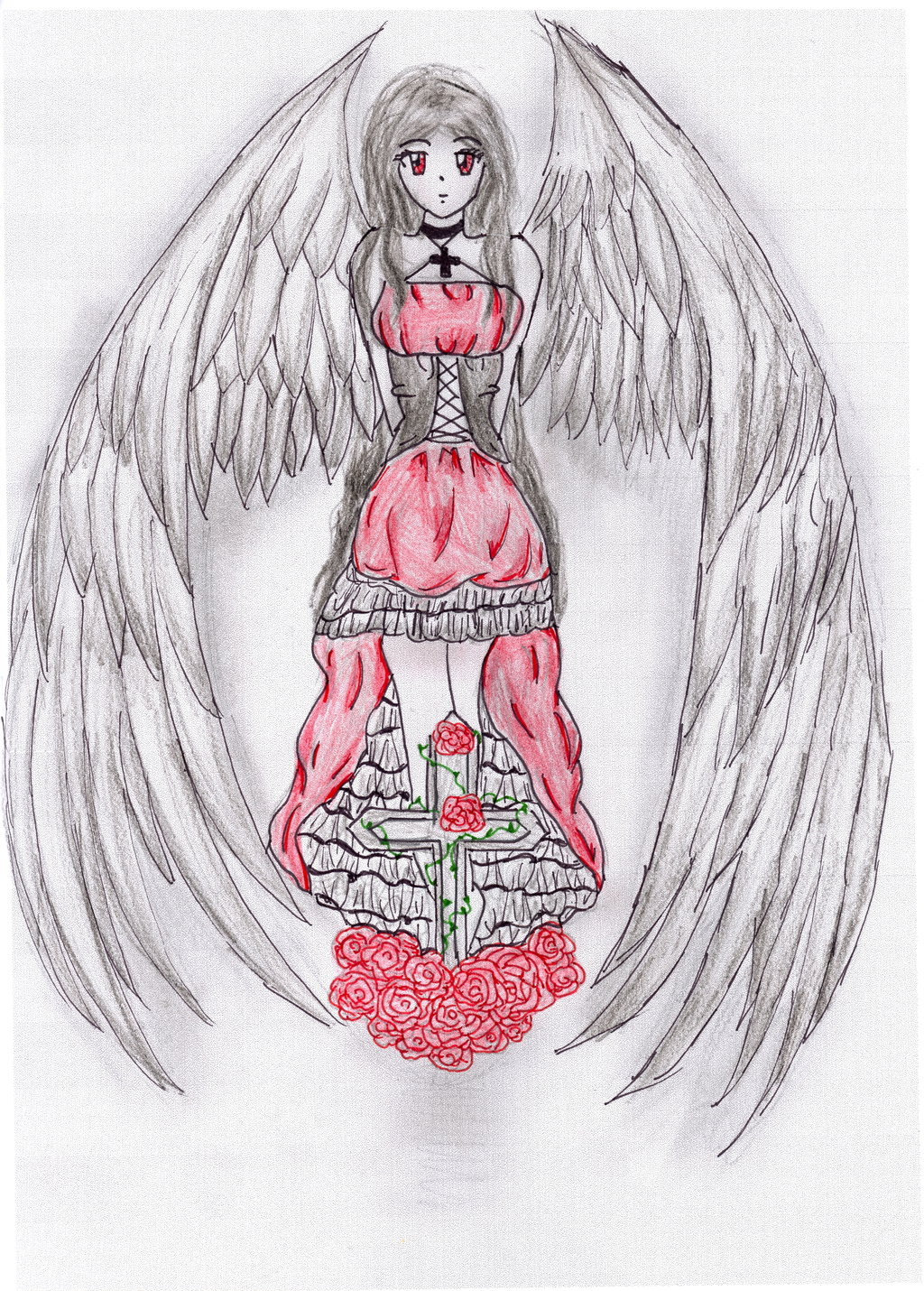 1024x1430 Dark Angel Manga Coloured By Love Drawing Manga