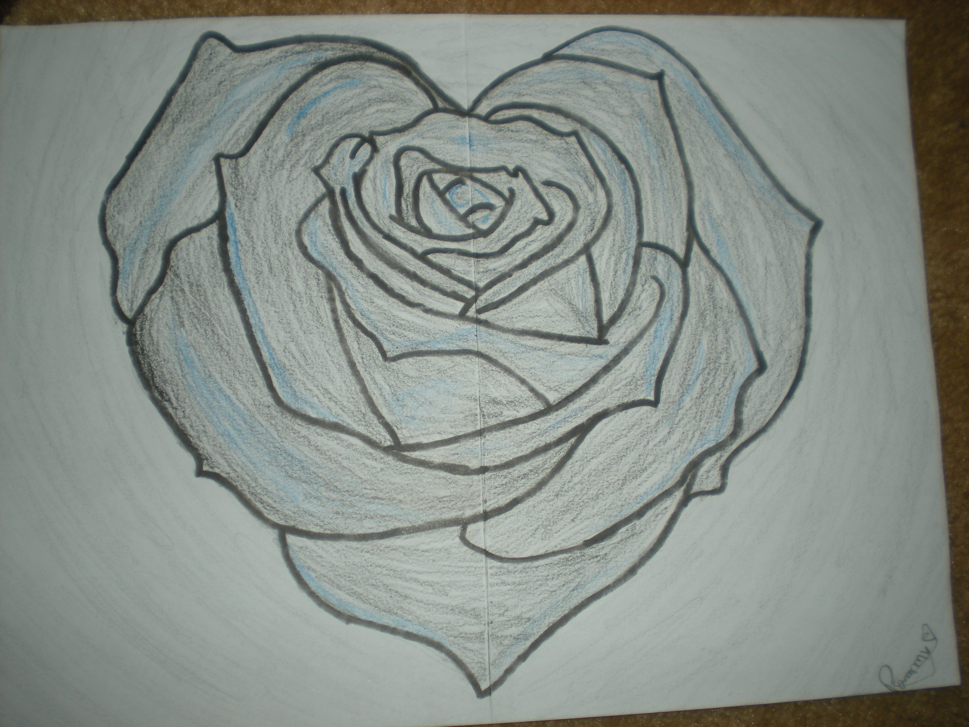 3264x2448 Love Art Sketch Pencil Hd Rose Roses And Heart Drawing Free