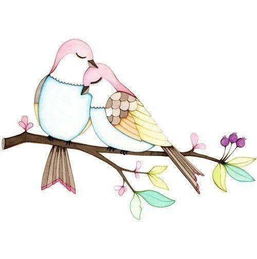 500x504 Etsy Love Joojoo Watercolor Illustration, Watercolor And Bird