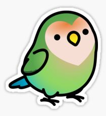 210x230 Lovebird Drawing Stickers Redbubble
