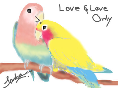 400x300 Lovebirds An Animals Speedpaint Drawing By Sankar In Group
