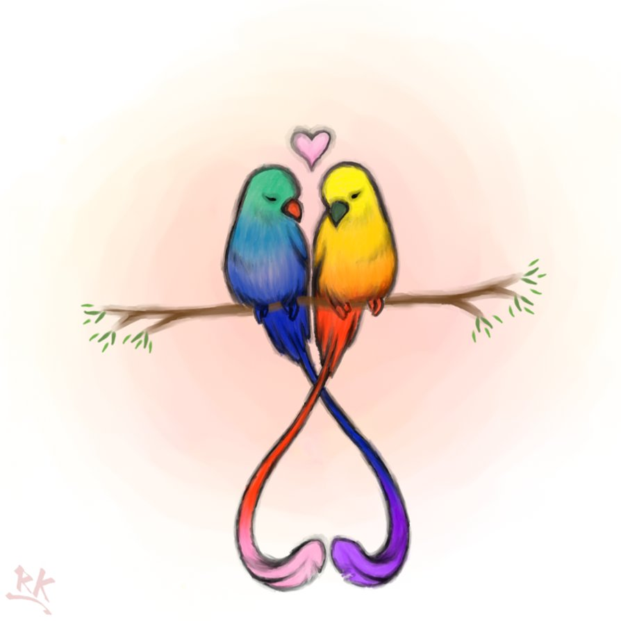 894x894 Love Birds Clipart My Image Sense Tattoos Bird