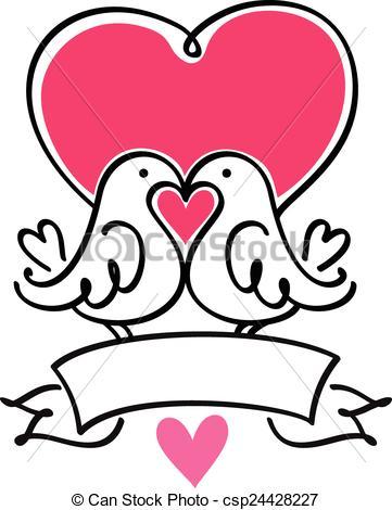 361x470 Drawn Lovebird Marriage