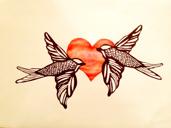 570x428 Love Birds Images Drawing