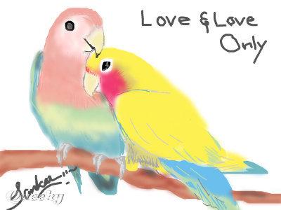 400x300 Lovebirds An Animals Speedpaint Drawing By Sankar In Group