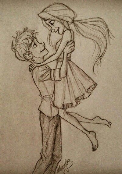 400x571 Cartoon, Couples, Drawing, Love, Pencil Couple
