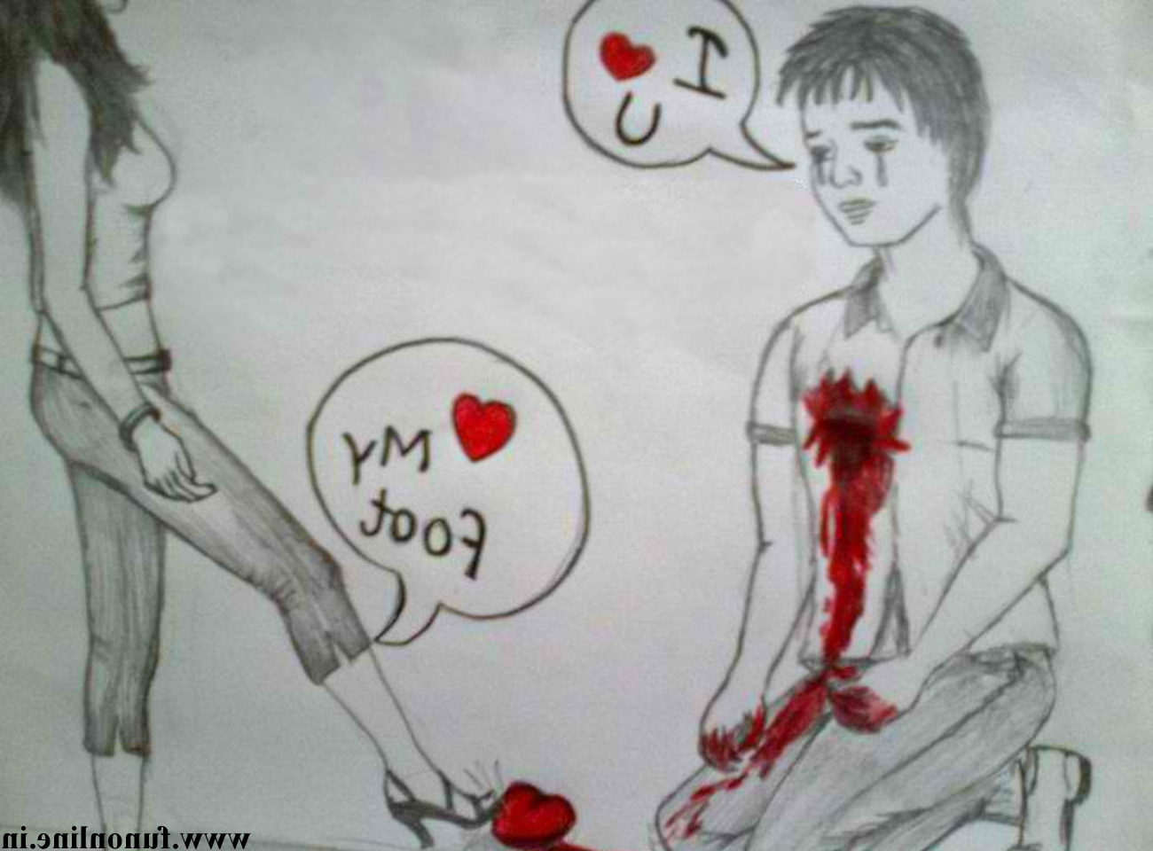 1300x960 Boy And Girl Love Sketch Images Sad Drawings Of Boys And Girls
