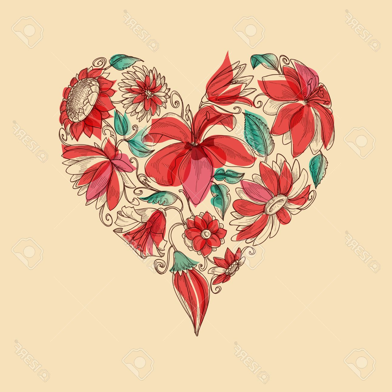 Love Flower Drawing at GetDrawings.com | Free for personal use Love ...
