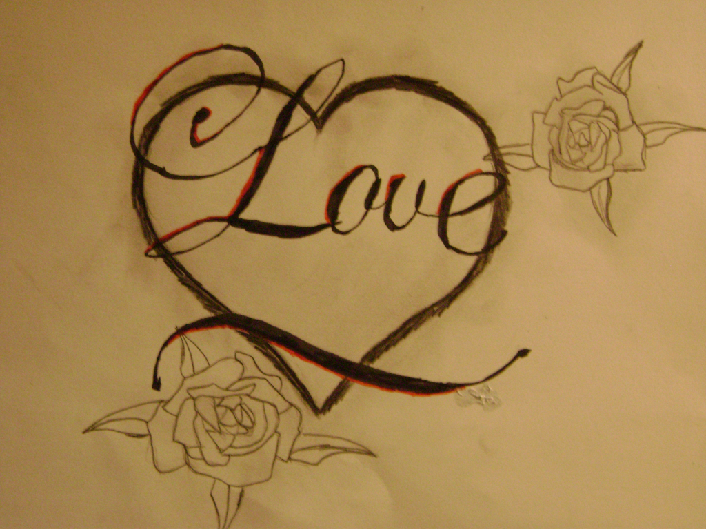 Love Heart Drawing at GetDrawings | Free download