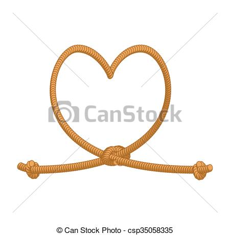 450x461 Heart Tie Rope. Thick Rope Love. Rope Love. Symbol
