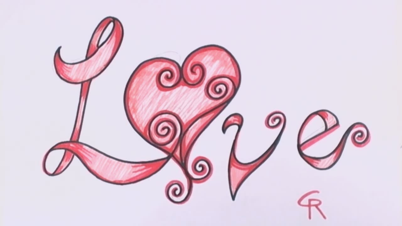Love Word Drawing at GetDrawings.com | Free for personal use Love ...