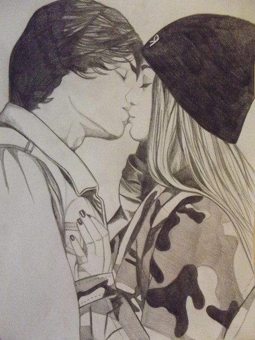500x667 Gallery Kissing Lovers Drawing Pencil,