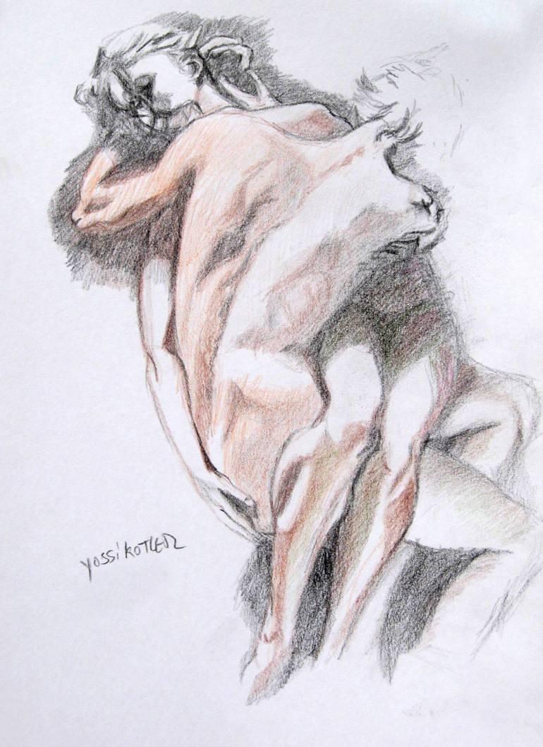 770x1058 Saatchi Art Lovers Drawing By Yossi Kotler