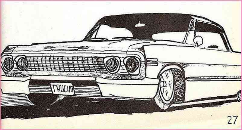 802x432 Black And White Lowrider Drawings