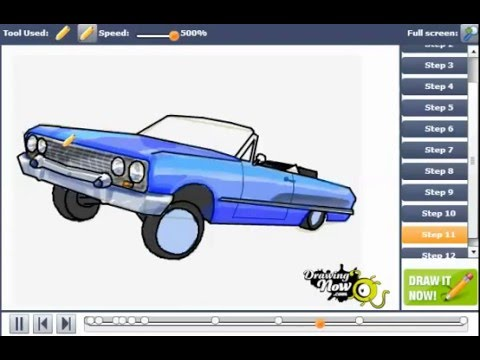 480x360 How To Draw A Lowrider Car