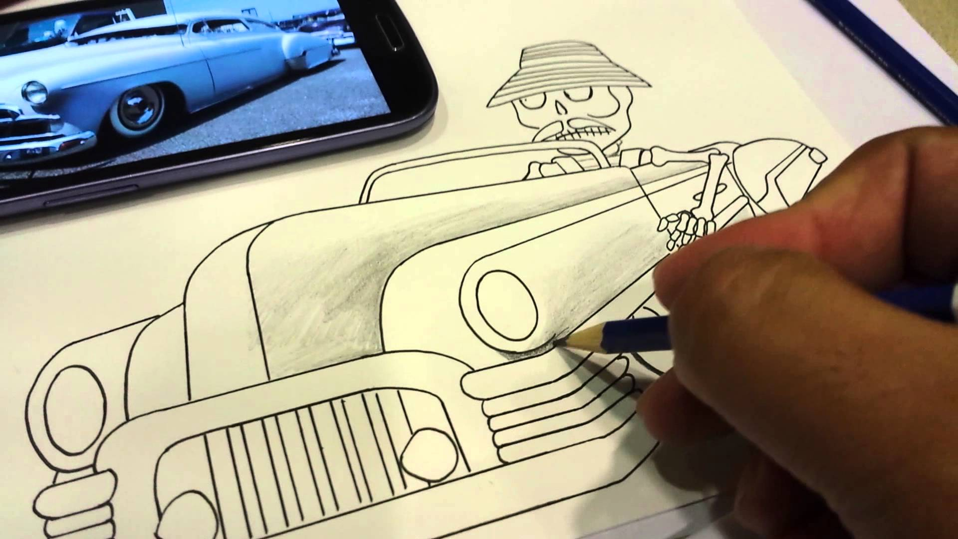 1920x1080 How To Draw A Cholo In Lowrider.