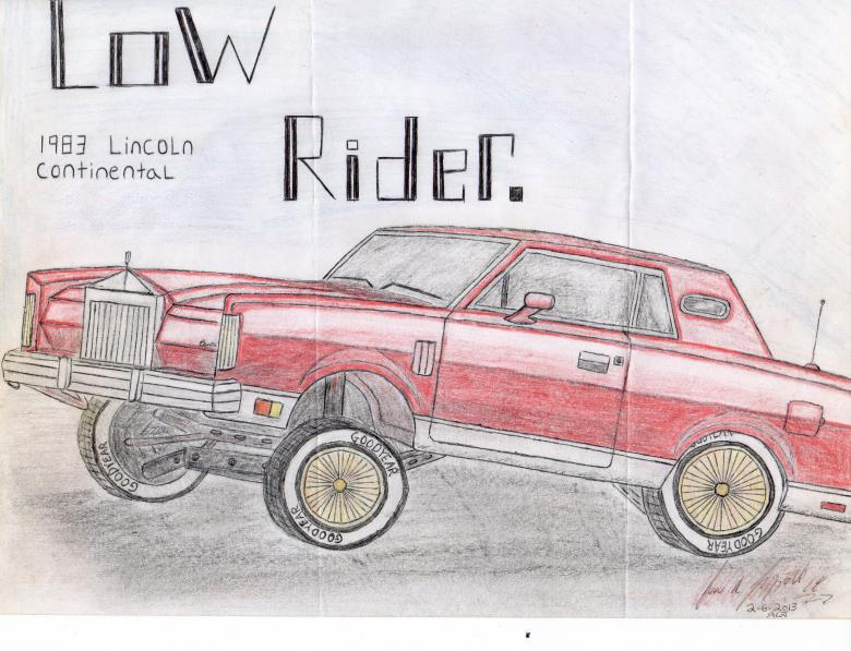780x597 Low Rider Drawing By Hand