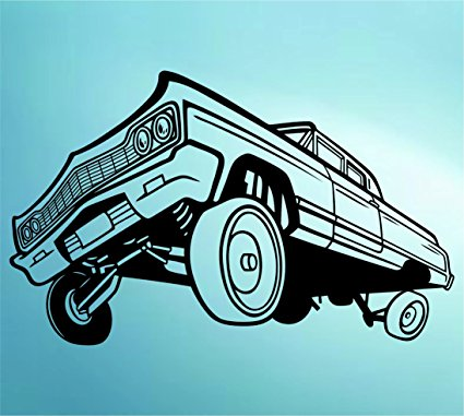 425x381 Lowrider Car With Hydraulics Decal Sticker Wall Mural