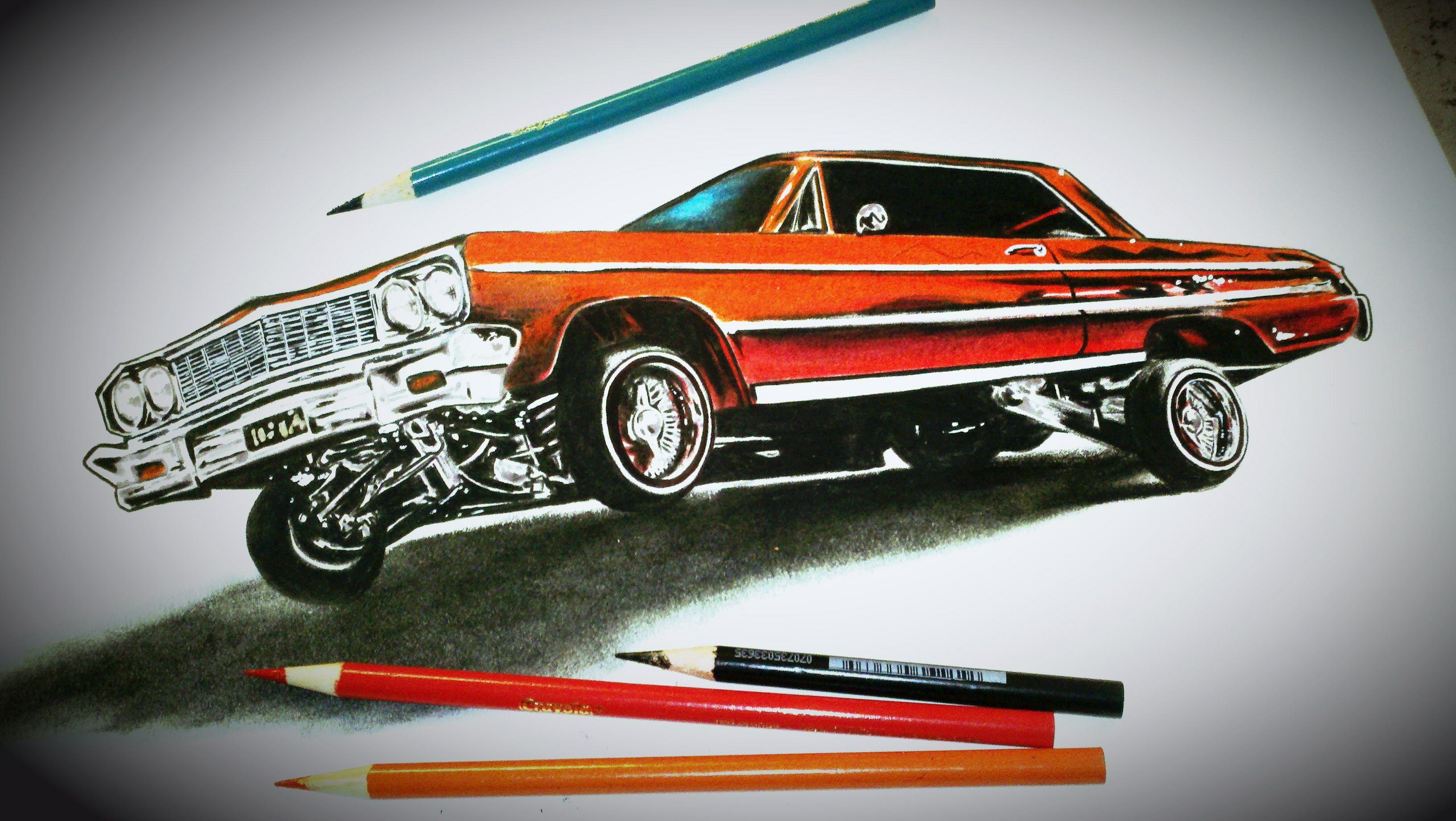 3264x1840 Cool Drawing Lowriders Custom Cars Gangster Lowrider Cars