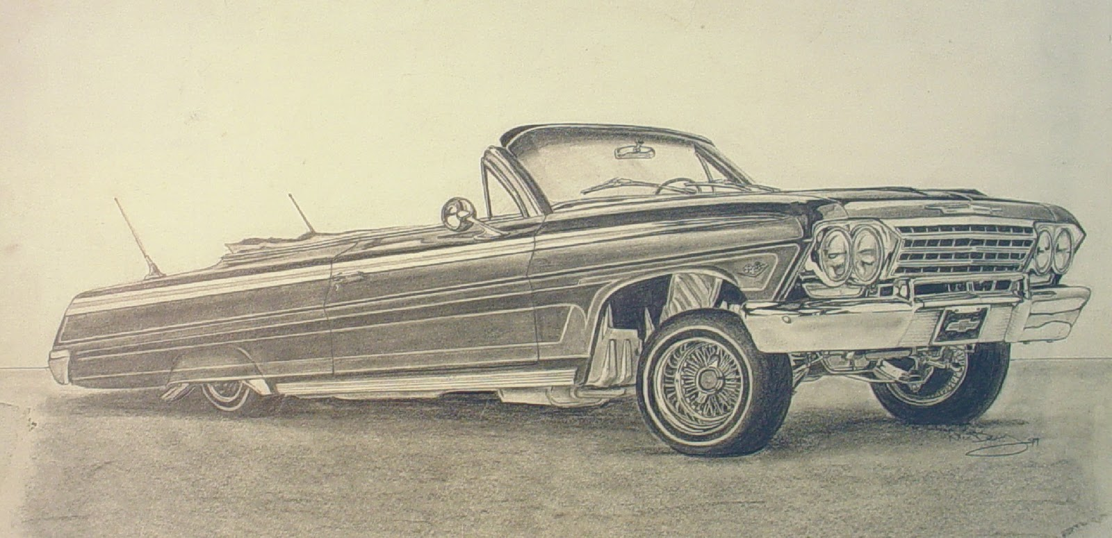 1600x775 Lowrider Cars And Trucks Drawings