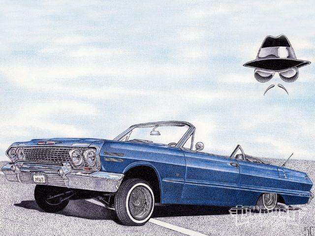 640x480 Lowrider Vehicle Artwork By Steve M Saucedo Lowrider Art