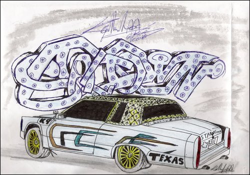 500x350 Lowrider Car With Sta Town By K9 Productions