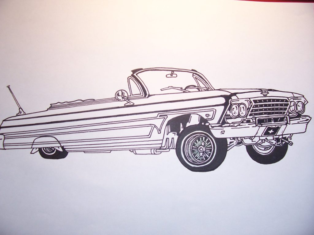1024x768 14 Delightful Lowrider Coloring Pages For Eson Me With