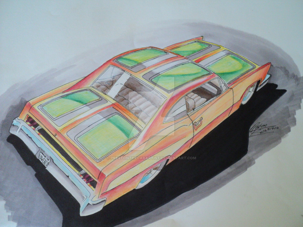 1024x768 Lowrider Drawing By Prestonthecarartist