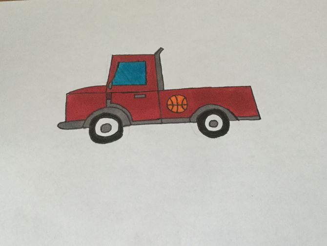 670x503 2 Easy Ways To Draw A Truck (With Pictures)