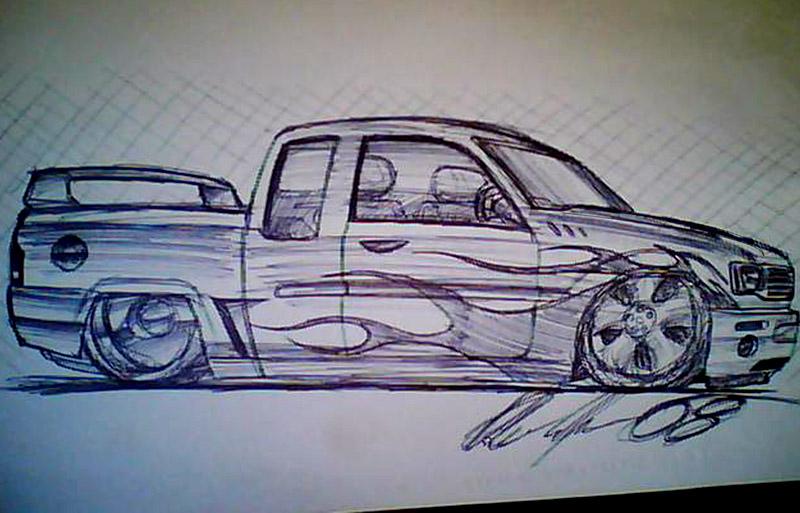 800x513 Lowrider Sketch By Dazza Mate