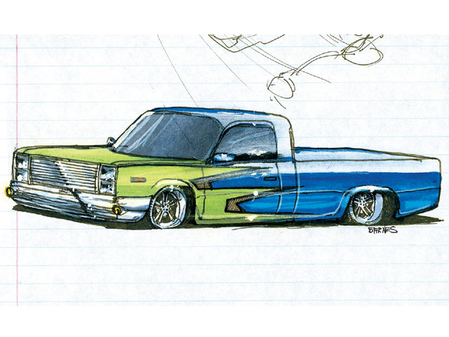 Lowrider Truck Drawing at GetDrawings.com | Free for personal use ...