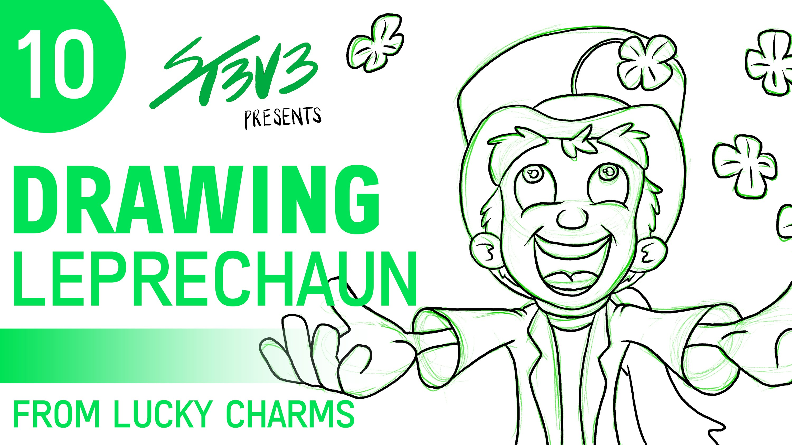 3000x1688 10 Drawing Leprechauns (From Lucky Charms)