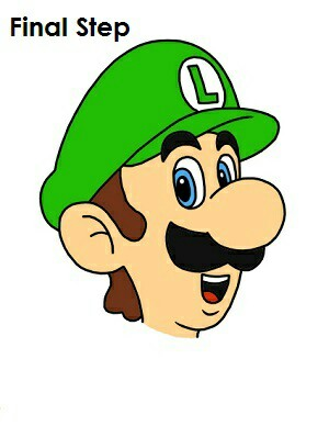 300x388 Draw Luigi Draw Movie Characters Movie Characters