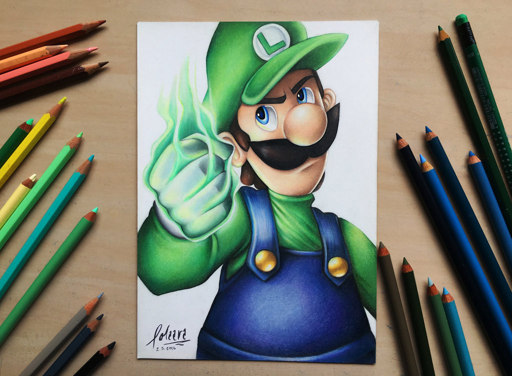 Luigi Drawing At Getdrawings Com Free For Personal Use