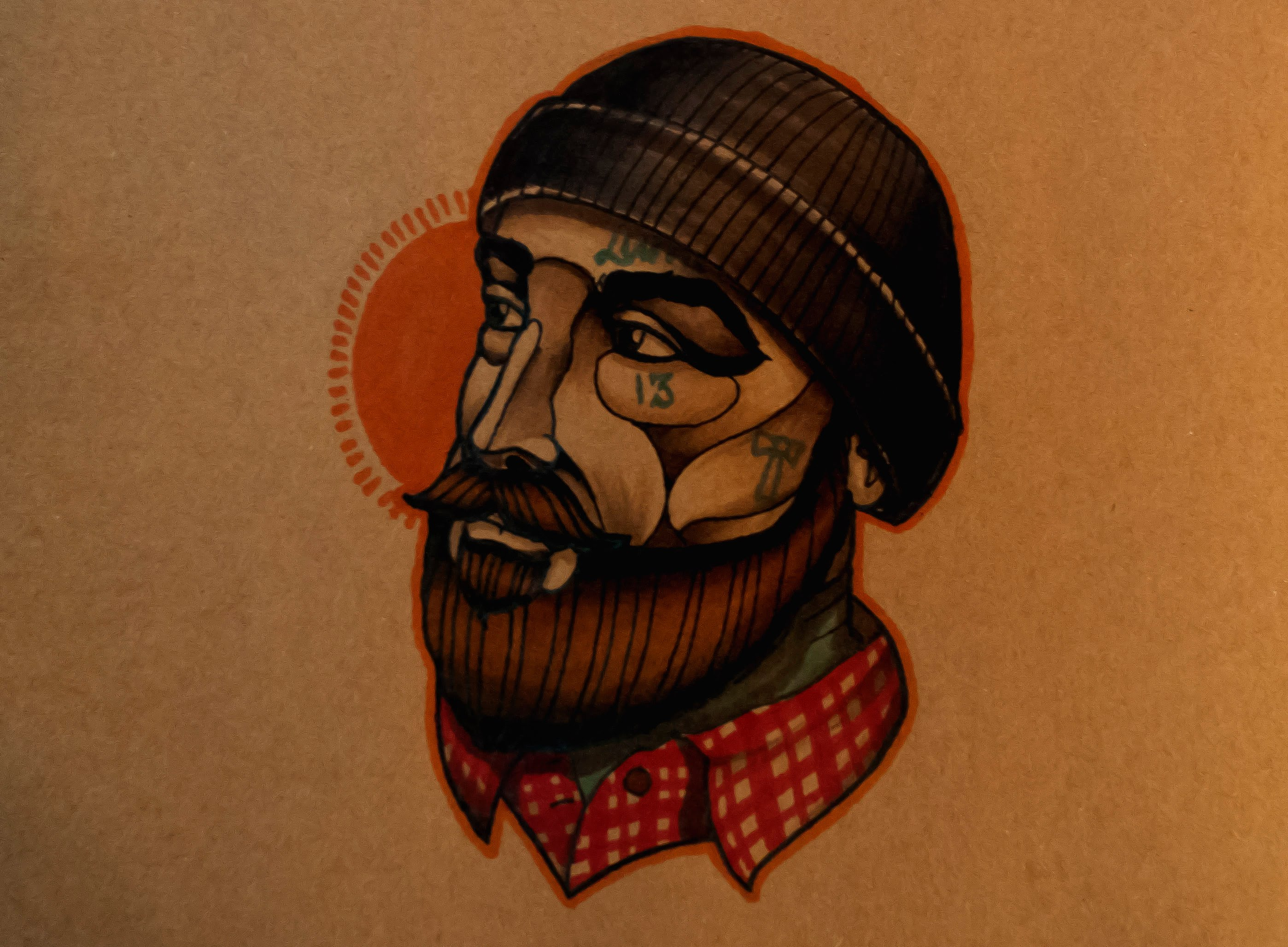 3e624c286adfa 2796x2055 How To Draw A Neo Traditional Lumberjack By Thebrokenpuppet