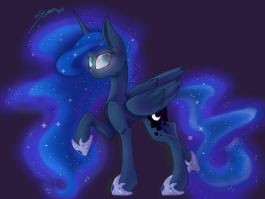1024x768 Princess Luna Drawing 2015 By Scr33chba7