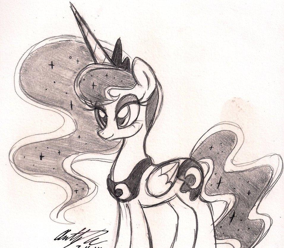956x836 Princess Luna Drawing By Newyorkx3