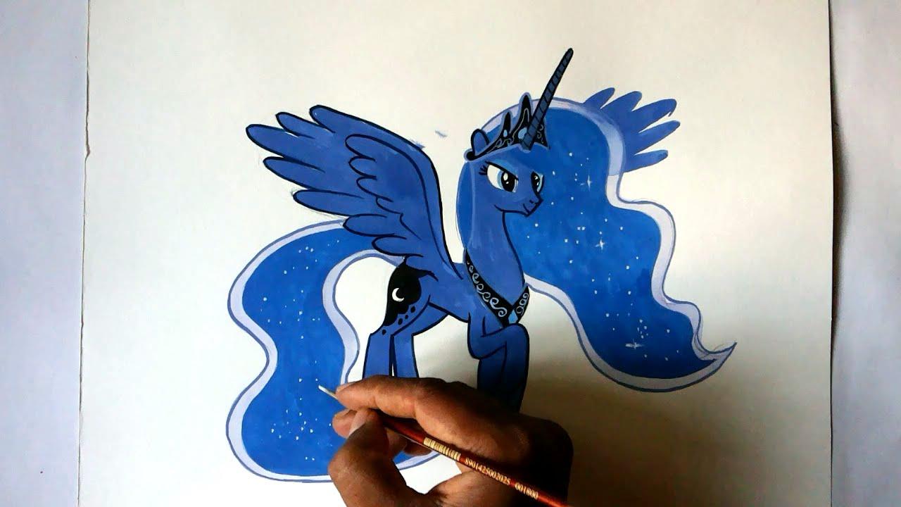 1280x720 How To Draw My Little Pony Princess Luna Alicorn Pony