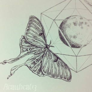 306x306 Luna Moth Black And White Drawing Luna Mother Tat