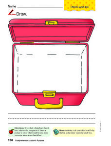 228x300 Lunch Box Drawing Worksheet For Pre K