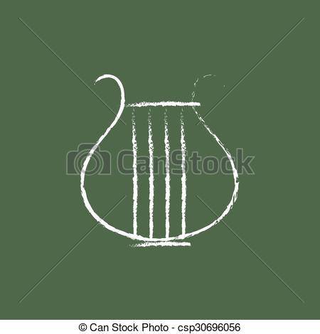 450x470 Lyre Icon Drawn In Chalk. Lyre Hand Drawn In Chalk On A Clipart