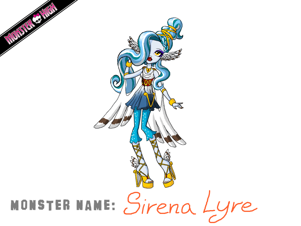 1024x768 Monster High Contest Sirena Lyre By Humanoid Magpie