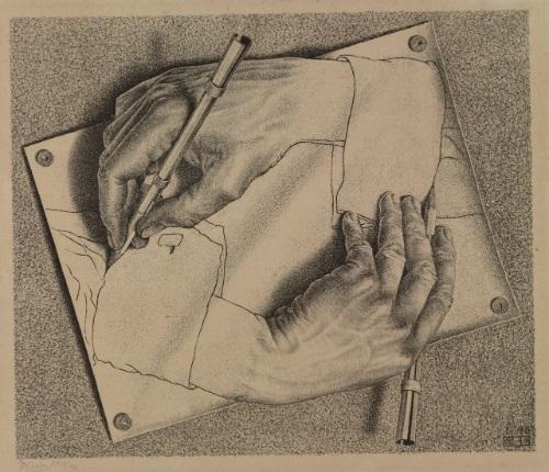 500x430 Drawing Hands By M.c. Escher On Artnet