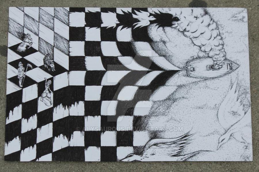 900x600 Inspired By M. C. Escher By Alysaurous
