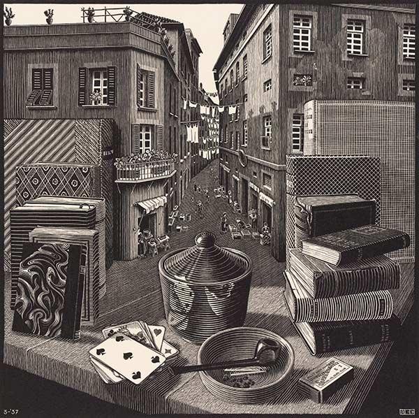 600x598 M.c. Escher Still Life And Street