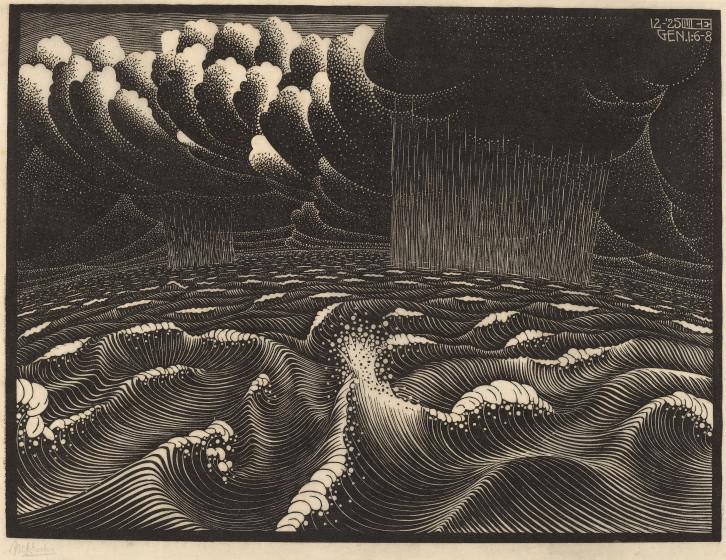 726x560 M.c. Escher Life And Work