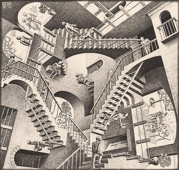 600x569 Mc Escher Mind Bending Art Bay Area And Peninsula Art Classes