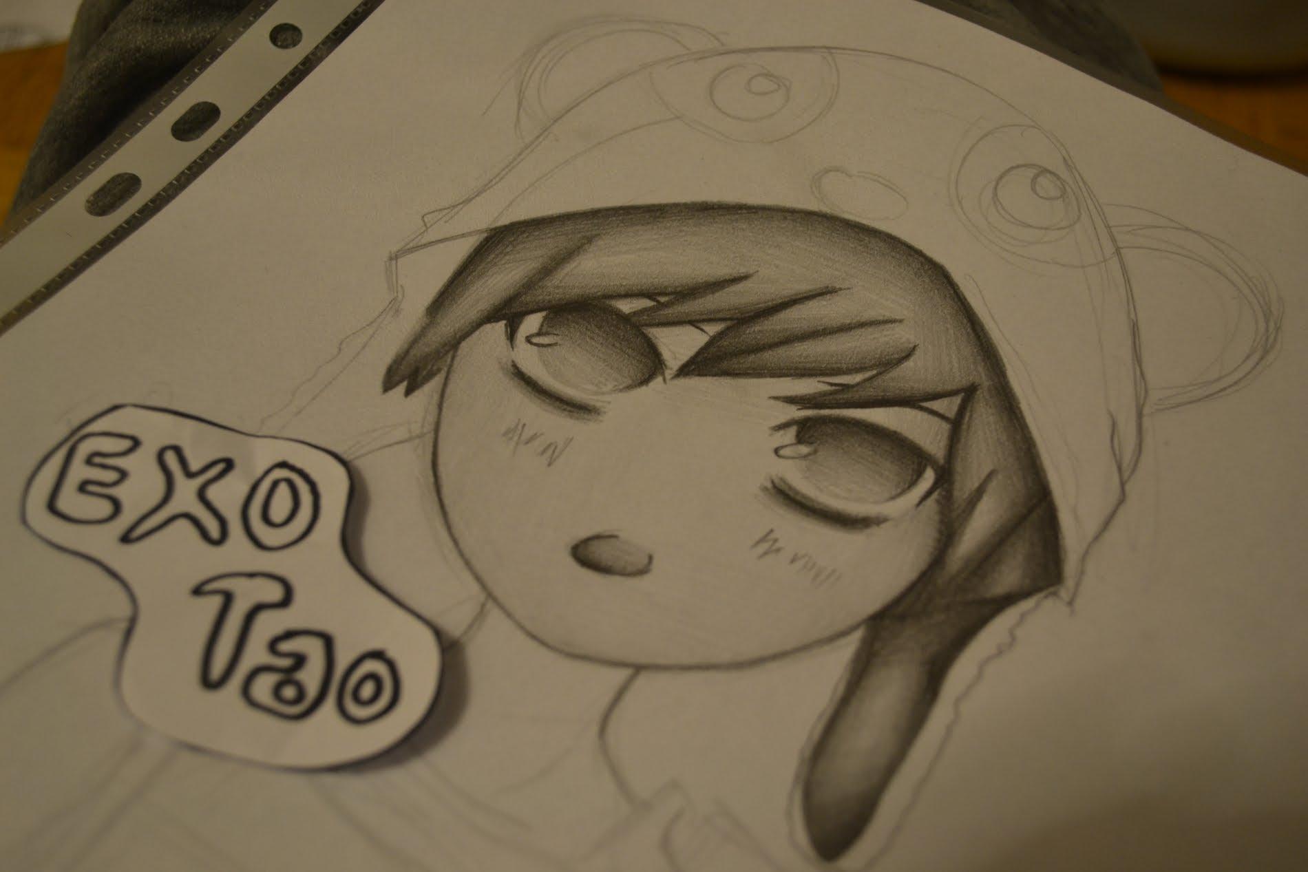 1900x1267 Drawing Tao From Exo M (Chibi)