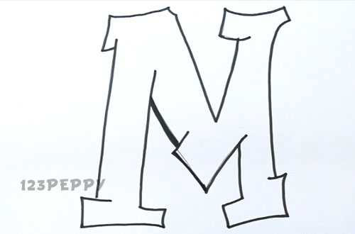graffiti letter m m drawing at getdrawings com free for personal use m drawing of